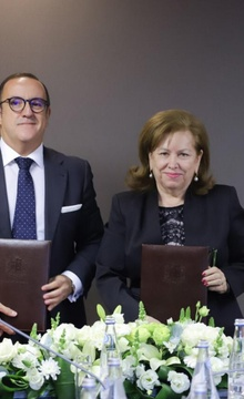 The signing of the Agreement on establishing twin-city relations between Rostov-on-don and Seville